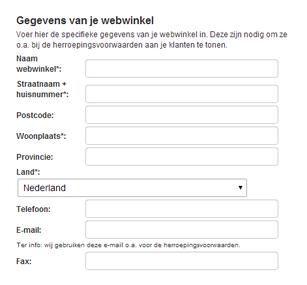 herroeping webwinkel