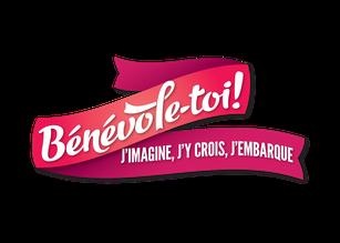 Bénévole-toi! j'imagine, j'y crois, j'embarque - Ville de Québec Arrondissement de Beauport - logo rose