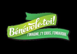 Bénévole-toi! j'imagine, j'y crois, j'embarque - Ville de Québec Arrondissement de Beauport - logo vert