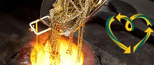 Bei der Goldschmiede OBSESSION wird Altgold recycelt und wiederverwertet.