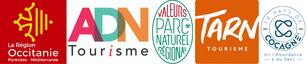 Partenaires ADN Tourisme , Occitanie Région Tourisme, Tarn Tourisme, Le Pays de Cocagne, Parc Naturel Régional du Haut Languedoc