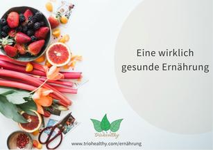 Gesunde Ernährung zusammengefasst