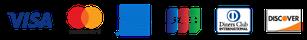 塗装工事費用、クレジットカード決済、ビザ・マスターカード・アメリカンエキスプレス・ジェーシービー・ダイナーズクラブ・ディスカバーカード