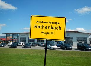 Anfahrt Autohaus feinaigle ind Röthenbach / Allgäu