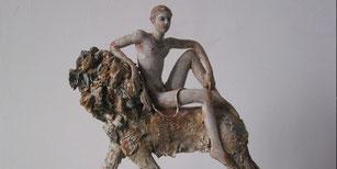 Cavalier au repos-sculpture papier