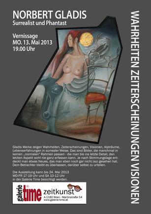 Galerie Time Wien zeigt den deutschen Surrealisten Norbert Gladis