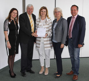 PSI Eva Rosskopf, Präsident  Mag. Johann Heuras, Dir. Gabriele Ettmayer, Vizepräsidentin Beate Raabe-Schasching, MA, PSI Helmut Pleischl