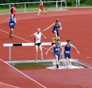 Erik Höpfner (496), Janek Betting (491) und Malte Stockhausen (585, auf dem Balken) lassen sich von Hindernissen nicht aufhalten.