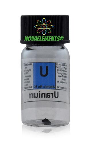 Uranium metal, uranium sample for element collection, uranium metal for laboratory, uranium metal for display, uranium check source