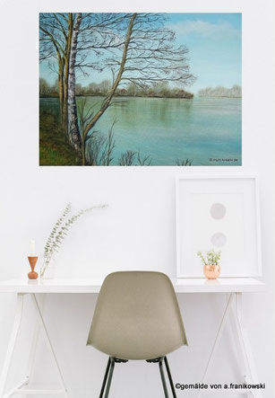 Wohnraumidee Wanddekoration mit einem Leinwandbild. Wanddeko online kaufen.