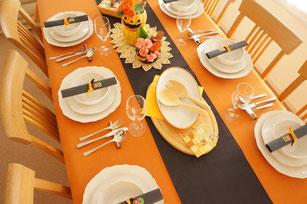 ハロウィンのテーブルコーディネイト