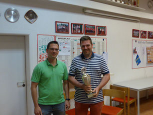 Sportler des Jahres Matthias Schröder (re) mit Spartenleiter Andreas Wente
