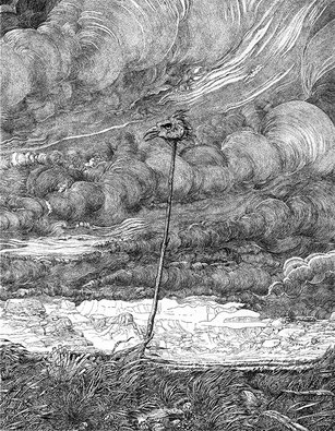 Frontière Sud. Gravure au burin de Philippe Mohlitz - Coll. Graphics Corner Art Gallery