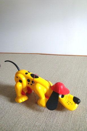 jouet Pluto à roulettes