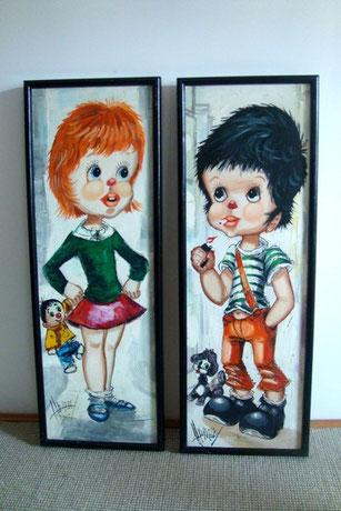 peintures couple Poulbot