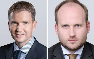 Andreas Stoeckli (left) and Tobias Bartz climb up the career ladder at Rhenus  /  source: company courtesy