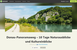Der Donau-Panoramaweg ist ab sofort mit allen Etappen auf der Outdoor-Plattform komoot vertreten.