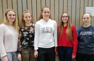 Charlotte Bauch (2.v.l.) fühlte sich wohl inmitten ihrer Sportfreundinnen aus dem Rheinland