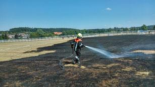 Mitten in Wörnitz: Ein Flächenbrand im August 2015