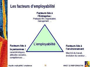 3 facteurs d'employabilité (entreprise, environnement, personne)
