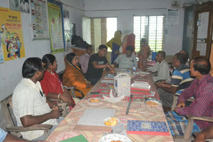 Before starting activity, OISCA and local NGO and School teacher hold the meeting.