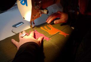 REHform-Tasche Applikation Kunsthandwerk Sabine Korn