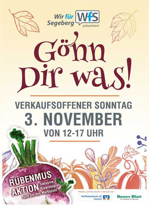 Plakat Verkaufsoffener Sonntag November 2019 Bad Segeberg