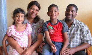 Marcos Rivero mit seiner Familie