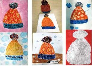毛糸の帽子の絵