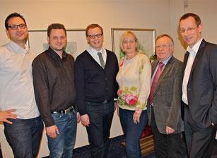 v.l.n.r.: Johannes Elstner, Paul Neß, Dr. Claudius Weisensee, Heike Schlüter, Eckhard Fuhrmann und Dirk Stockamp
