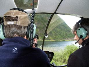 Heli vlucht over de Begbie Glacier