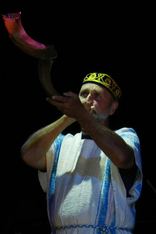 Shofar Player at the Feast of Tabernacles