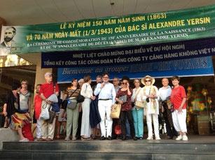 Les participants du circuit Sur les traces de Yersin organisé pour AD@lY par Hit Voyages