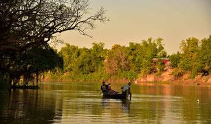 Fluss Landschaft bei Prasat