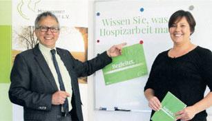 """Dr. Joachim Scherrieble und Stefanie Schuh stellten das Programm """"Zehn Lichter zu zehn Jahren"""" vor. Foto: Melanie Specht"""