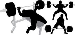Illustration der drei effektivsten Übungen im Muskelaufbau