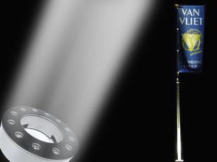 Fahnenmaste Beleuchtung BannerVision