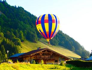 am nächsten Morgen - ein Ballonstart im Tal