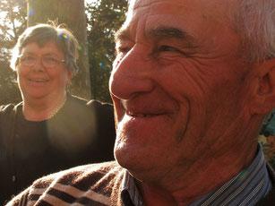 Bruno und seine Frau Emilie in Fosdinovo