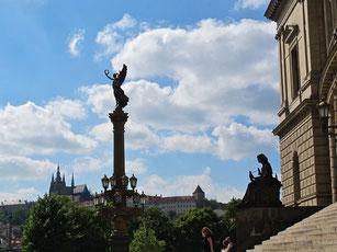 der Friedensengel an der Moldau