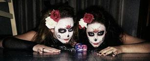 Halloween calavera sangrienta