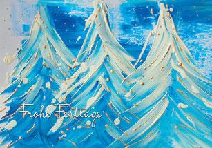 Grusskarte zu Weihnachten inklusive Spende für die Stiftung Sternschnuppe