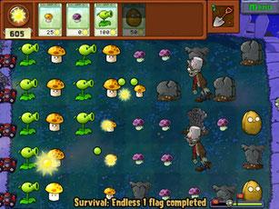 面白い無料ゲーム「ゾンビと植物」