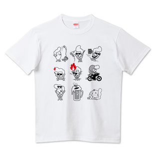 イラストTシャツ「つっぱりアマビエ君2-七変化-」デザイン作成