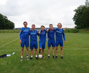 TVH: Meister der Schwabenliga Feldfaustball 2017. v.l.: Michael Krauß, Patrick Schneider, Moritz Höckele, Thomas Neumann und Tim Störkle