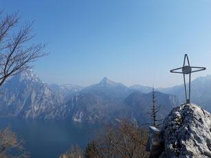 Geisswand Gipfelkreuz, Baalstein, Traunkirchen, Traunsee