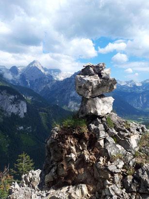 Wanderung auf den Hagstein im Stodertal, über den Stoderer Dolomitensteig und ausgehend vom Gasthof Baumschlagereith