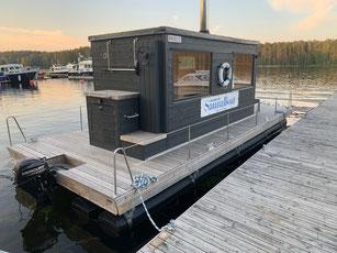Saunaboot in Ijoki, Finnland