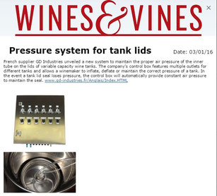 Pneumatic Box GD Industries Wines and Vines