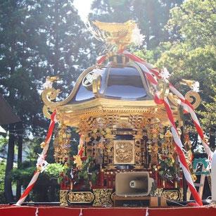 十社大神の大きな御神輿 令和元年に修復
